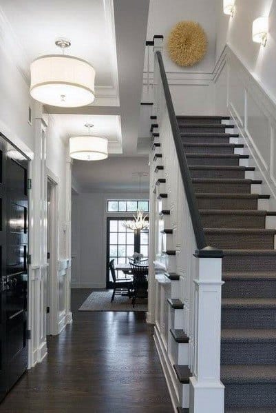 Interior Designs Hallway Lighting Drum Ceiling Light