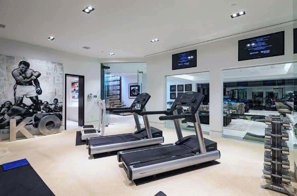 Interior Designs Home Gym Floorings