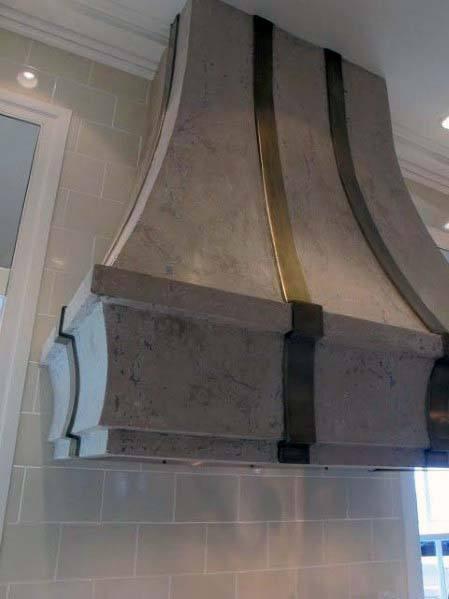 Interior Designs Kitchen Hood Marble With Brass