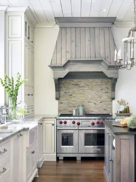 Interior Designs Kitchen Hoods Rustic Grey Finish