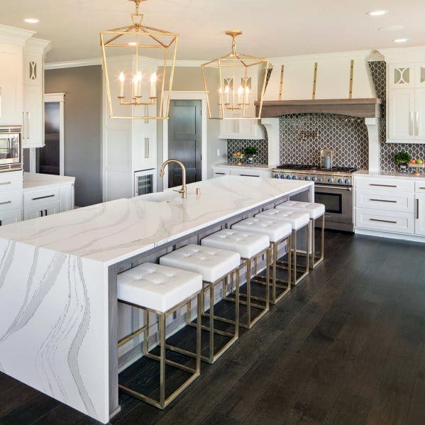 Interior Designs Kitchen Island Lighting Gold Chandeliers
