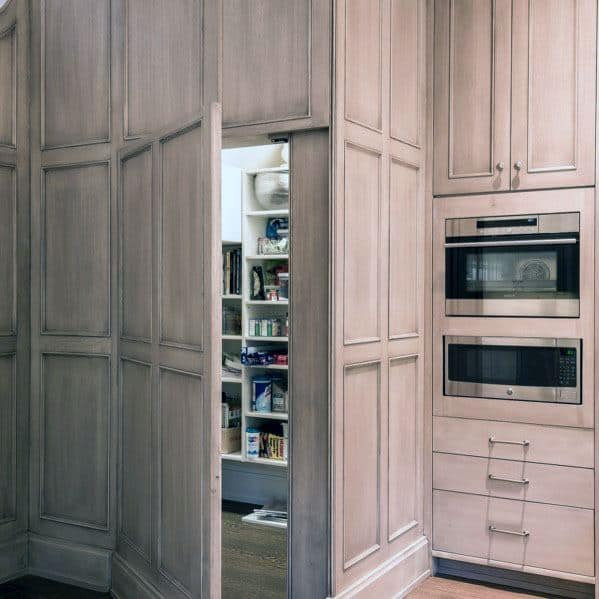 Interior Designs Kitchen Pantry Cabinet Full Height Door Hidden