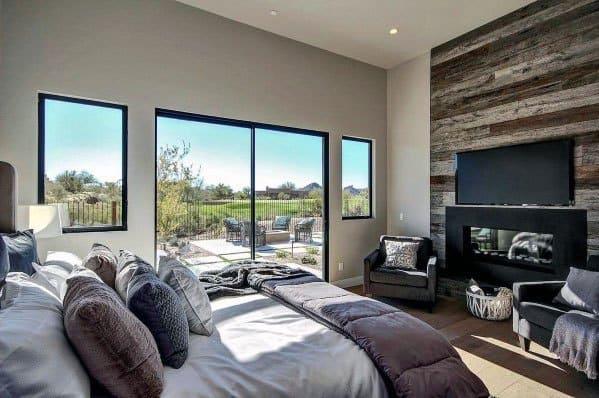 Interior Designs Linear Fireplace