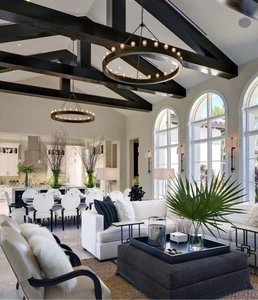 Vaulted Ceiling Decorating Ideas Living Room: Top 70 Best Vaulted Ceiling Ideas