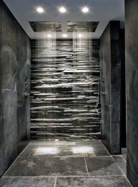 Interior Designs Shower Flooring Slate Tiles