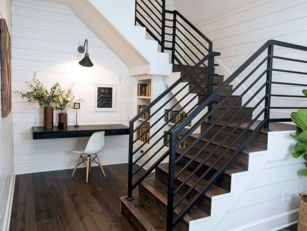 Interior Designs Staircase Railing Black Metal