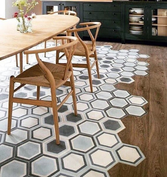 Interior Designs Tile To Hardwood Flooring Transition