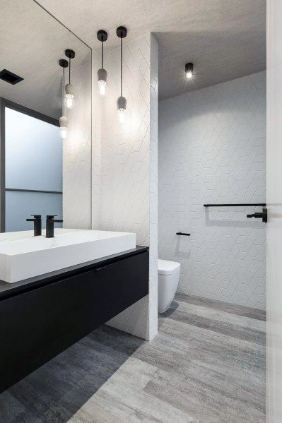 Interior Designs White Modern Bathrooms