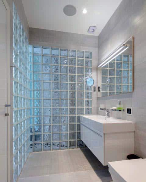 Interior Glass Block Design For Bathrooms