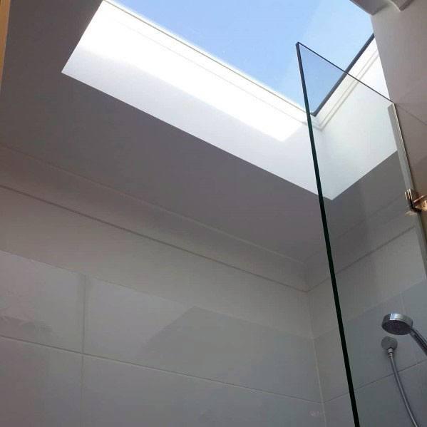 Interior Ideas Above Shower Ceiling Window Skylight