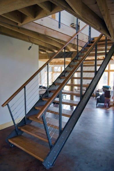 Interior Ideas Basement Stairs Steel Design