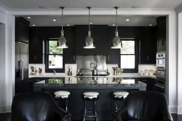 Interior Ideas For Black Kitchen Cabinet