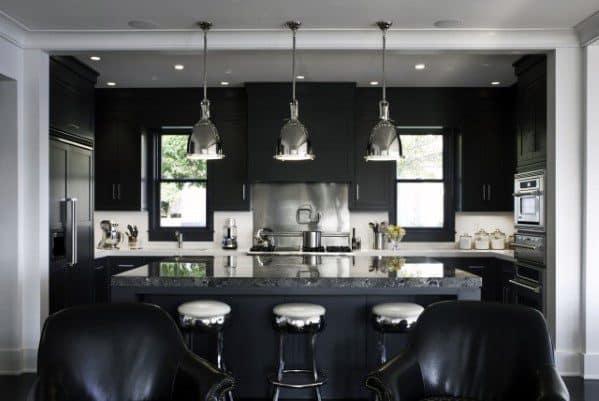 black kitchen cabinet color ideas
