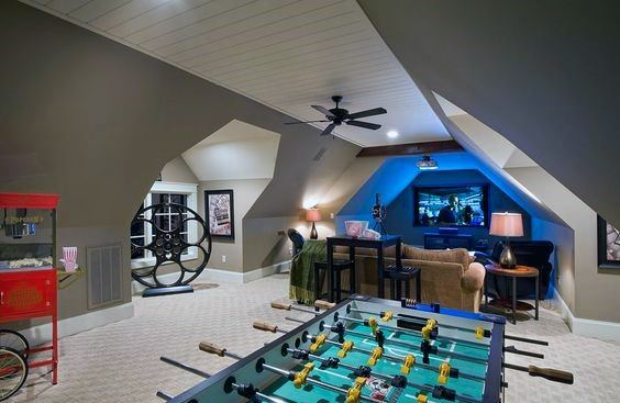 Interior Ideas For Bonus Room Movie And Game Room