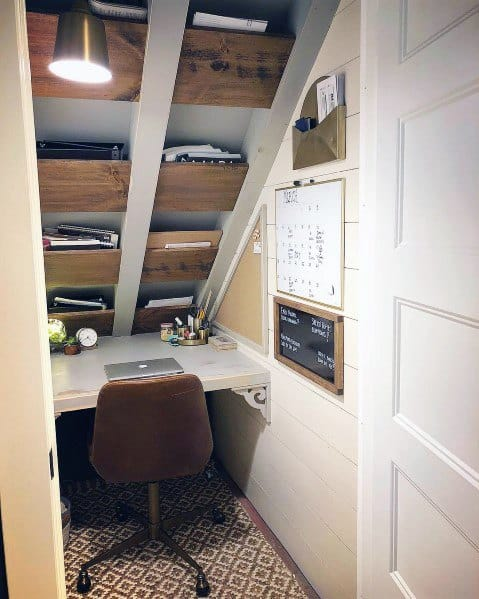 Interior Ideas For Closet Office Under Staircase