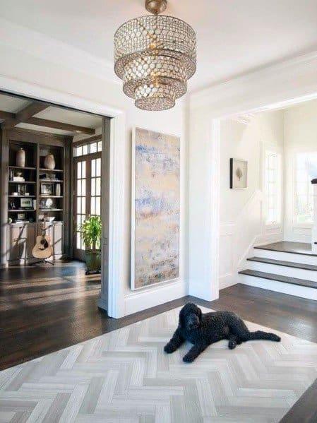 Interior Ideas For Entryway Tile Chevron Pattern