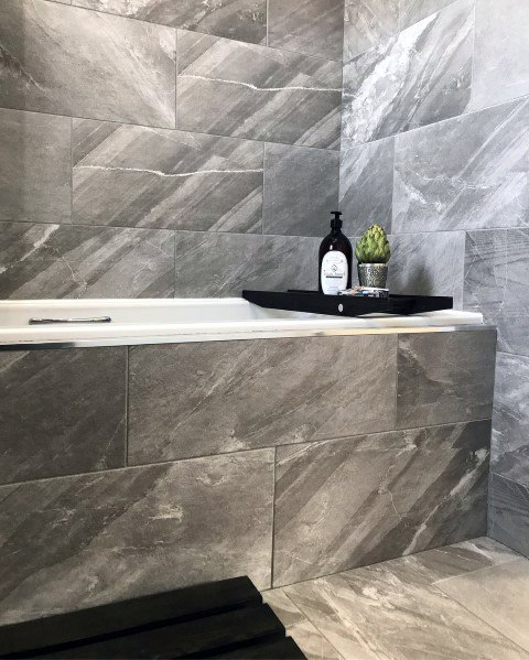 Interior Ideas For Grey Bathroom Tile