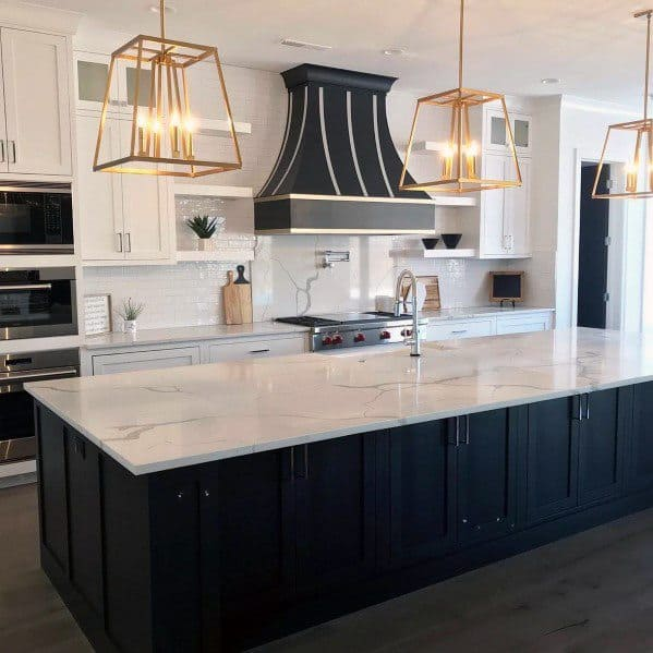 Interior Ideas For Kitchen Island Lighting Chandeliers Golden
