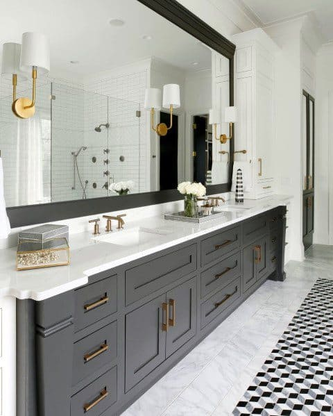Interior Ideas For Master Bathrooms Grey And White