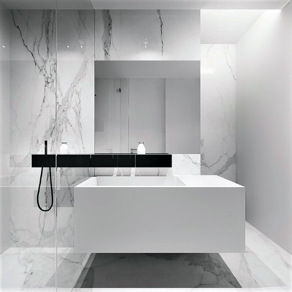 Interior Ideas For White Bathrooms Modern