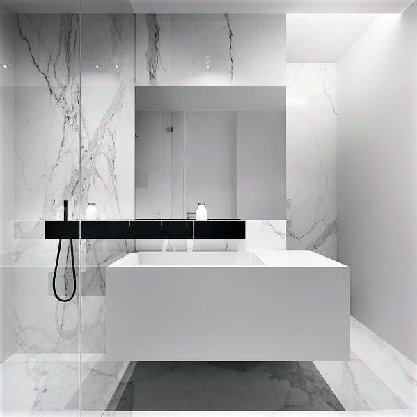 Top 60 Best White Bathroom Ideas