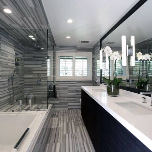 Interior Ideas Grey Bathroom Tile