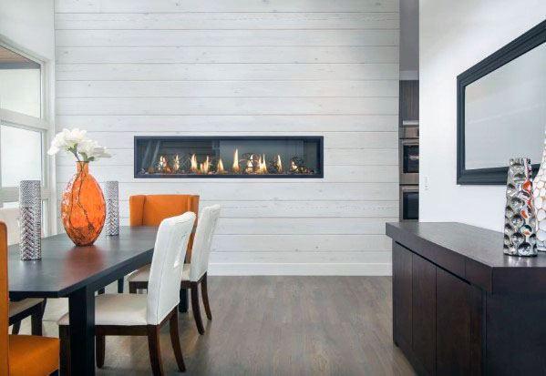 Interior Ideas Linear Fireplace