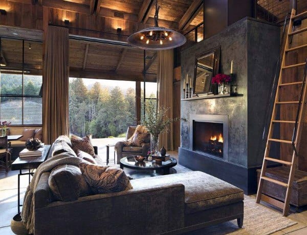 Interior Ideas Rustic Living Rooms