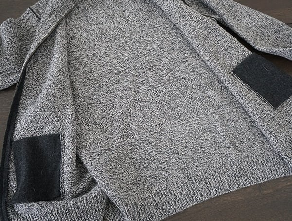 Interior Kinross Cashmere Marled Cable Full Zip Cardigan