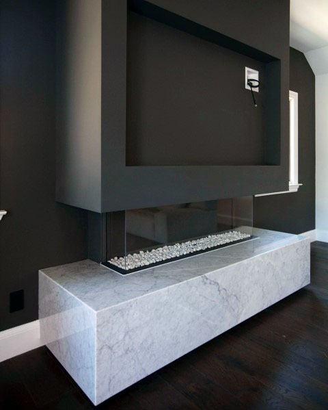 Interior Linear Fireplace Design