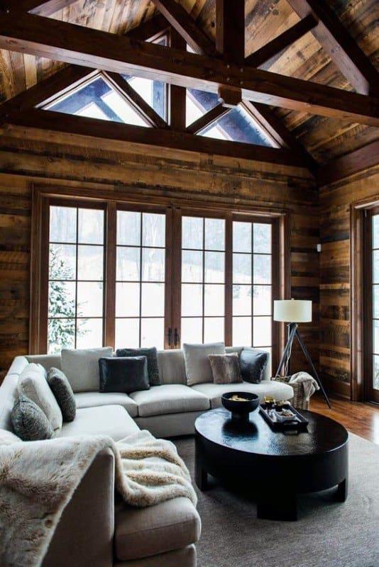 Interior Design Ideas: Top 60 Best Log Cabin Interior Design Ideas