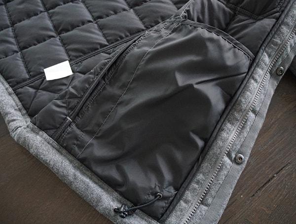 Interior Pocket Nau Utility Wool Down Mens Jacket