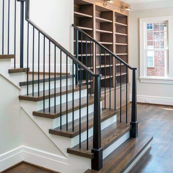 Interior Stair Railing Design Wood