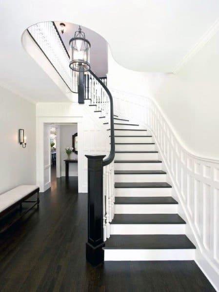 Interior Stair Trim Chair Rail Design