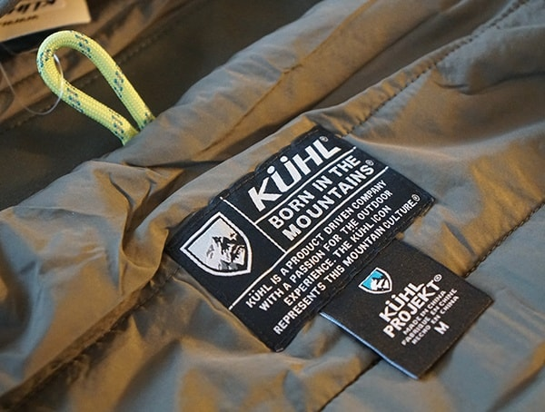 Interior Tag Kuhl Wildkard Hybrid Jacket With Paracord Hang Loop