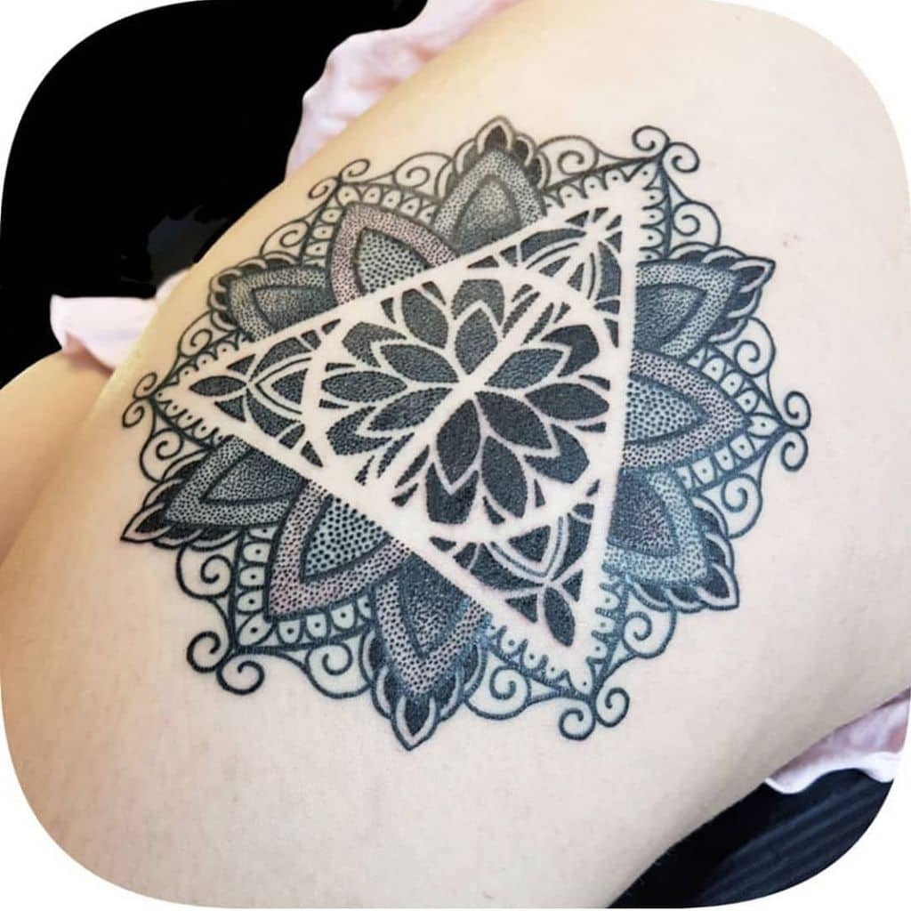 Intricate Harry Potter Deathly Hallows Tattoo