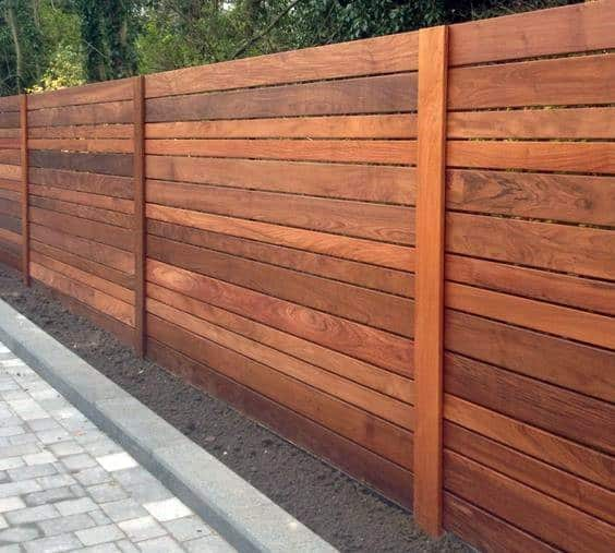 Ipe Wood Fence Exterior Design