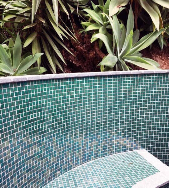 Iridescent Pool Wall Tile Ideas