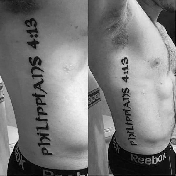 Rib Quotes Tattoos For Guys Quotesgram: 40 Philippians 4:13 Tattoo Designs For Men