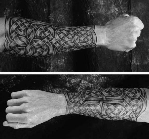 Irish Knots Mens Forearm Sleeve Tattoos