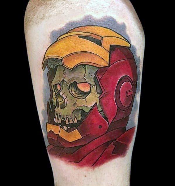 70 iron man tattoo designs for men tony stark ink ideas