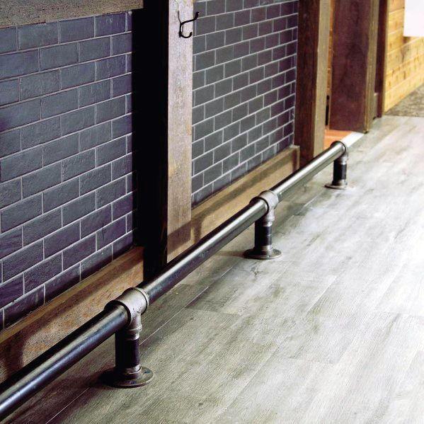 Iron Pipes Bar Foot Rail Interior Design