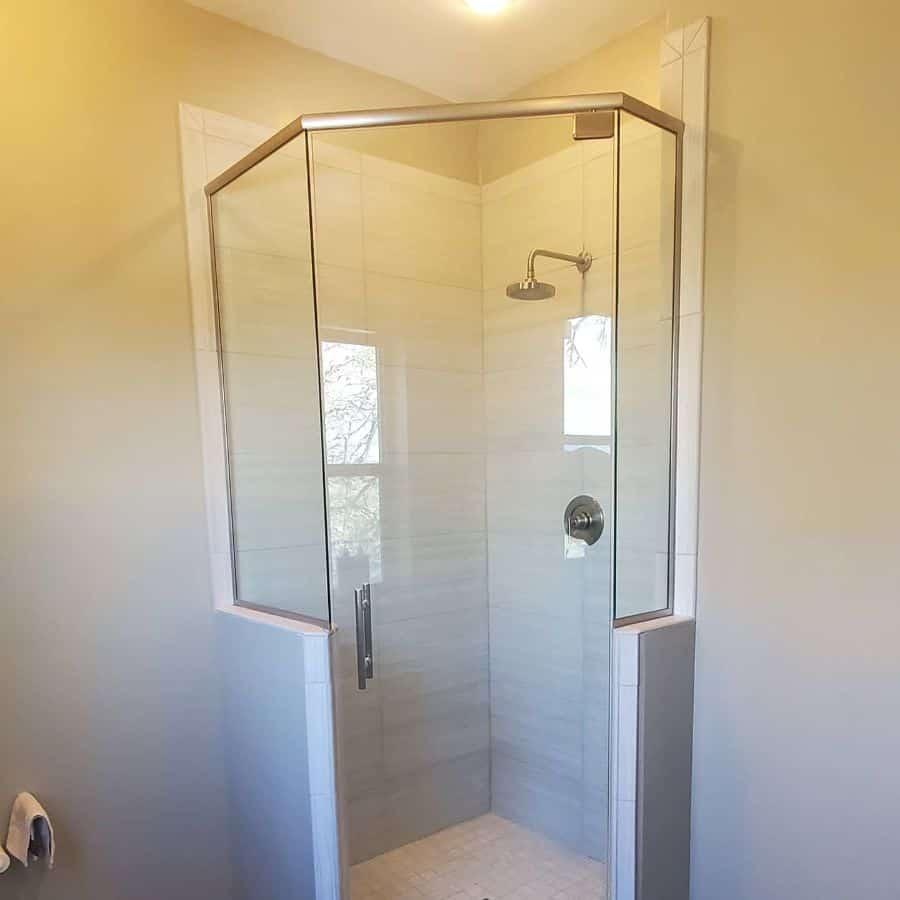 Irregular Shaped Small Shower Ideas Mitcheltilecompany