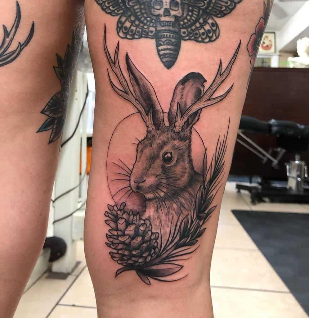 Jackalope Rabbit Tattoos Brent Megens