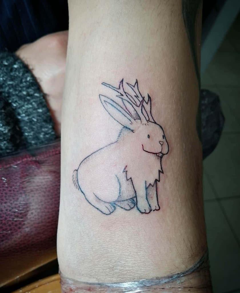 Jackalope Rabbit Tattoos Jorgeromollaca