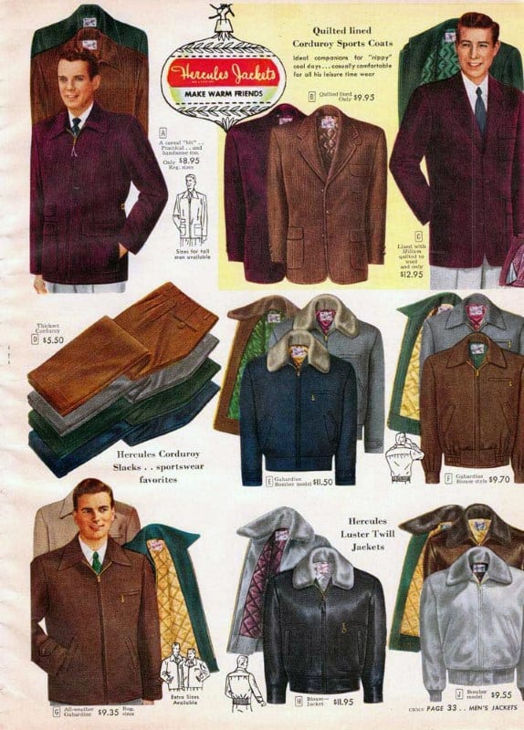 Jackets Vintage 1950s Mens Style Shopping Catalog