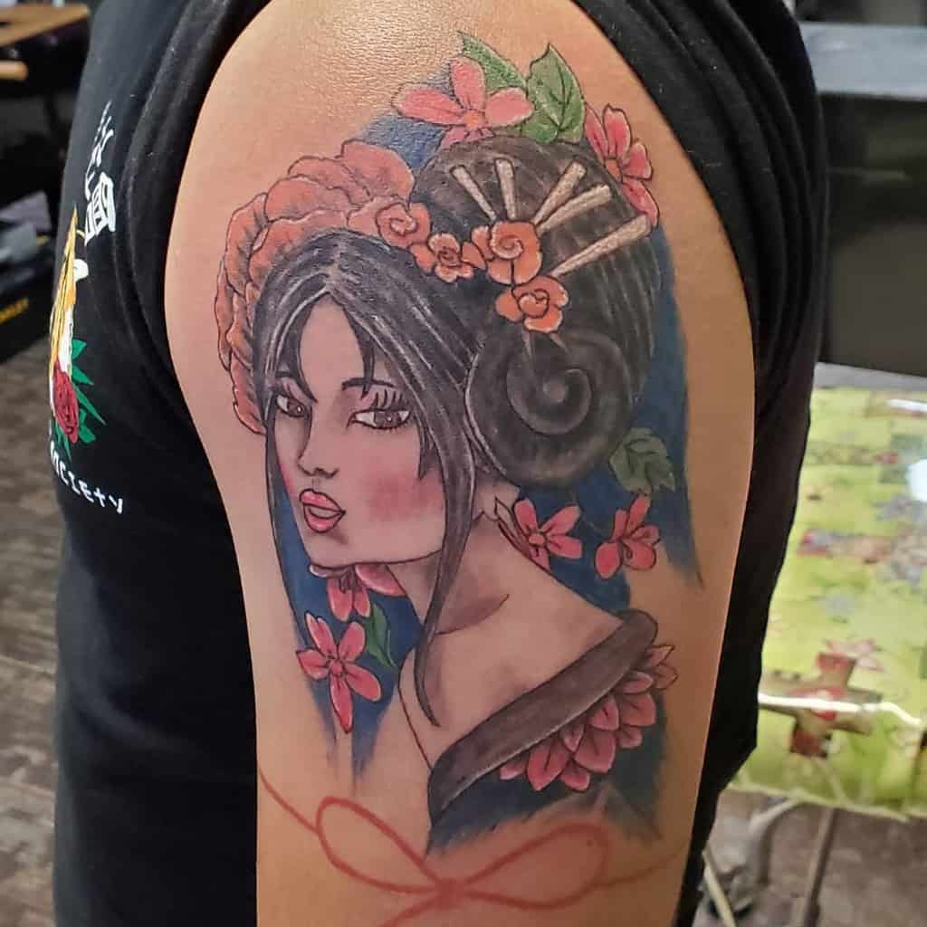 Jacksonville Oriental Female Fresh Geisha Tattoo