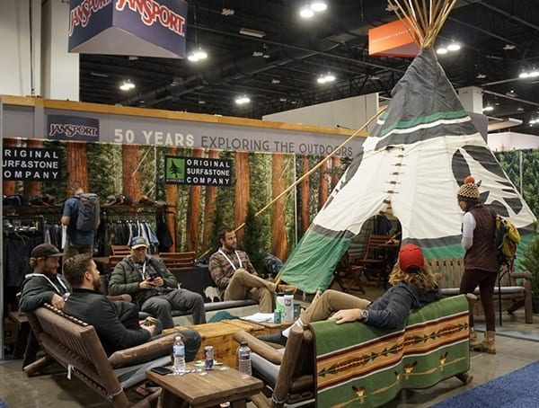 Jansport Booth With Teepee Tent Outdoor Retailer Winter Market 2018