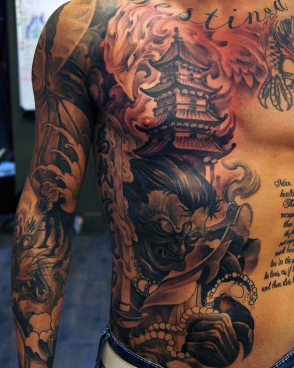 Japanese Chest Tattoo For Men