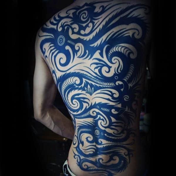 Japanese Dragon Amazing Mens Tribal Back Tattoos
